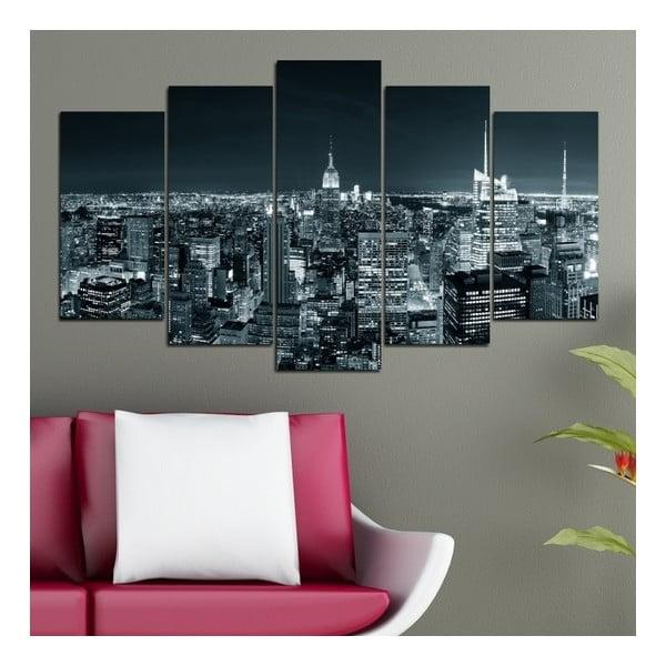 5-częściowy obraz Światła miast
