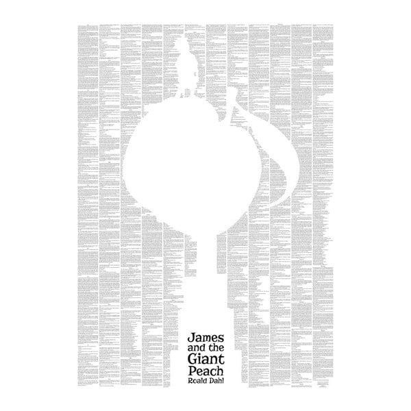 """Plakat """"Jakubek i brzoskwinia olbrzymka"""", 50x70 cm"""