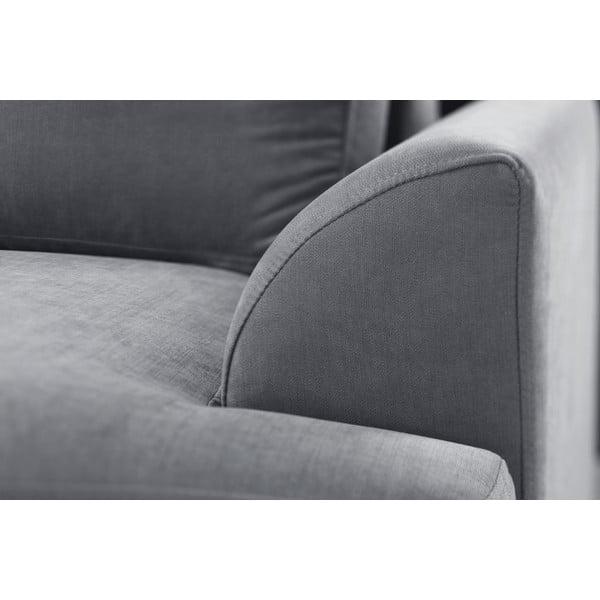 Sofa narożna Jalouse Maison Irina, prawy róg, szara