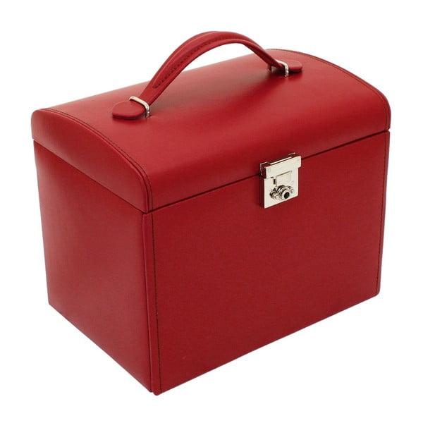 Czerwona szkatułka Friedrich Lederwaren Cordoba, 26x18 cm