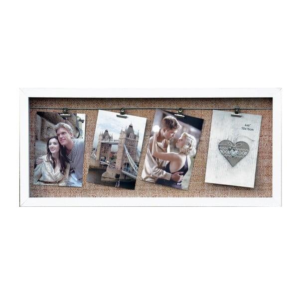 Tablica na 4 zdjęcia z klipsami Freely, biała