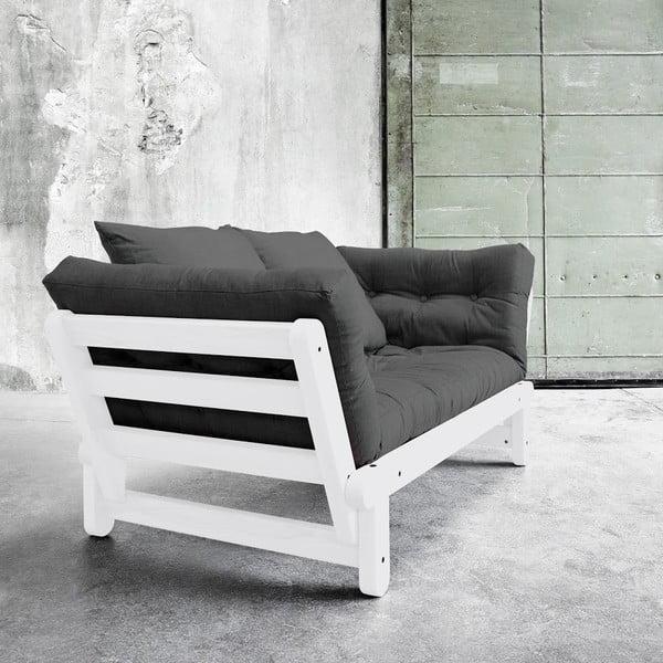 Sofa rozkładana Beat White/Dark