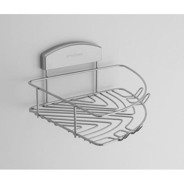 Narożna półka łazienkowa bez konieczności wiercenia Gel, 23x24 cm