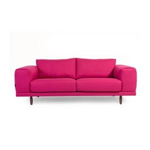Różowa sofa trzyosobowa Charlie Pommier Relax