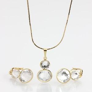 Zestaw Laura Bruni Swarovski Elements Crytal Golden
