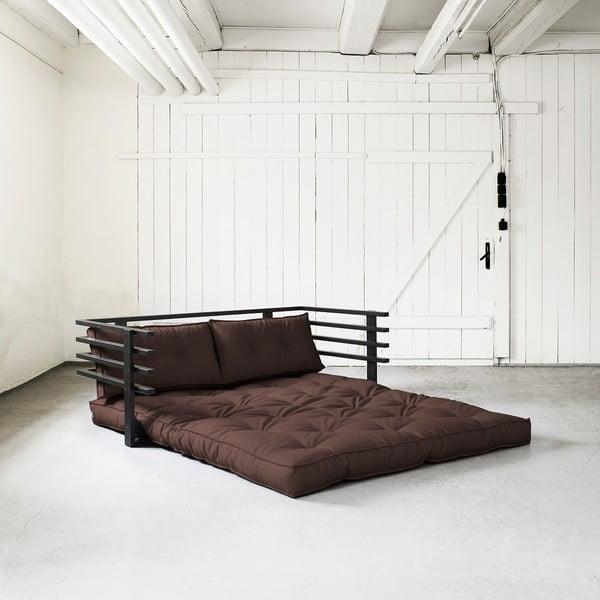 Rozkładana sofa dwuosobowa Karup Funk Black/Brown