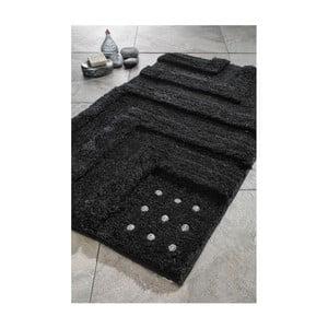 Zestaw 2 dywaników łazienkowych Amos Black Swarovski, 60x100 cm a 55x60 cm