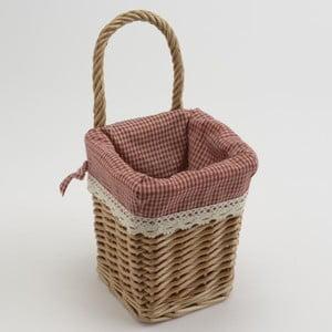 Wiklinowy koszyk Red Vichy Small