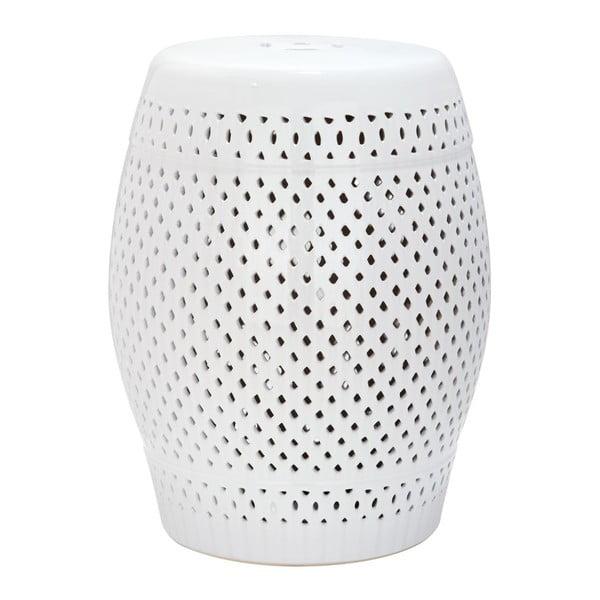 Biały stolik ceramiczny Safavieh Diamond
