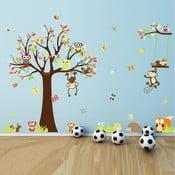Zestaw dziecięcych naklejek ściennych Ambiance Cute Monkeys Playing On Trees