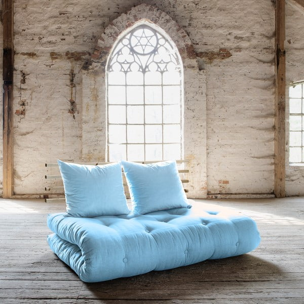 Sofa rozkładana Karup Shin Sano Natur/Celeste