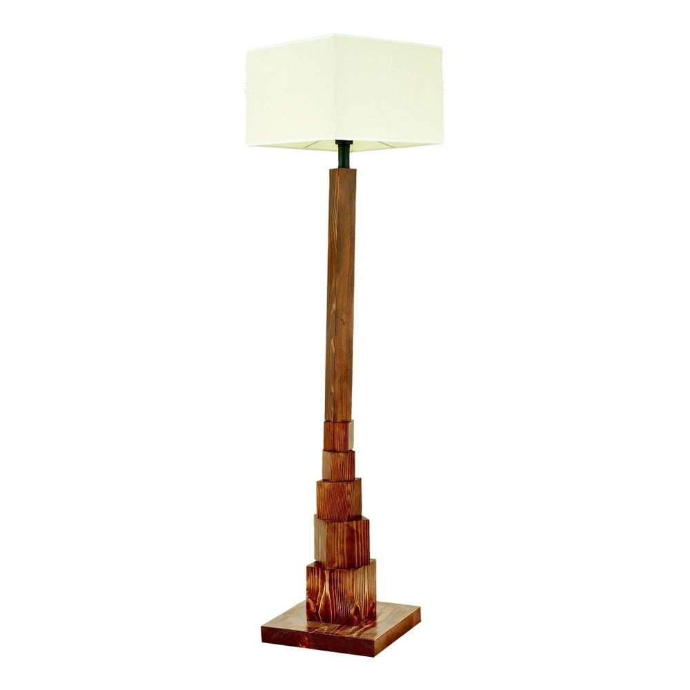 Lampa stojąca z drewna grabu Eyfel