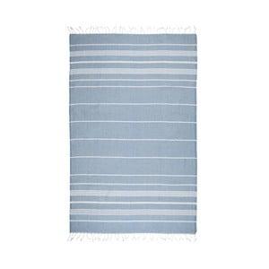 Niebieski ręcznik hammam Kate Louise Classic, 180x100 cm