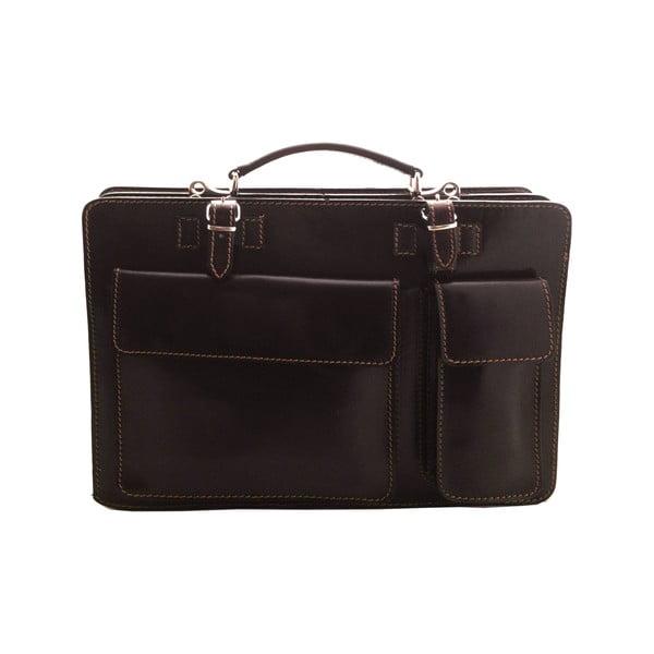 Skórzana torba Cortese, ciemnobrązowa