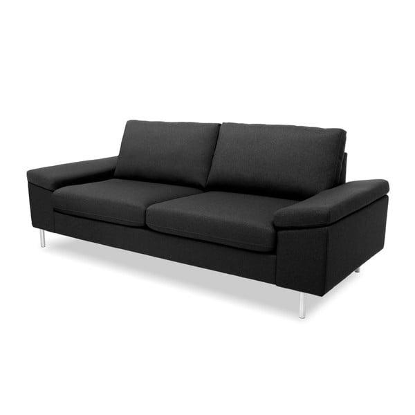 Antracytowa sofa 3-osobowa Vivonita Nathan