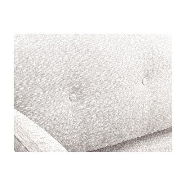 Kremowa sofa 3-osobowa Mazzini Sofas Elena, z szezlongiem po lewej stronie