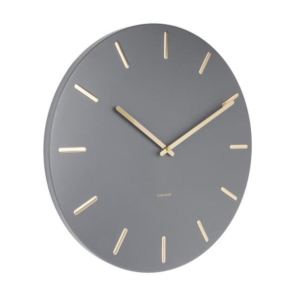 Szary zegar ścienny Karlsson Charm