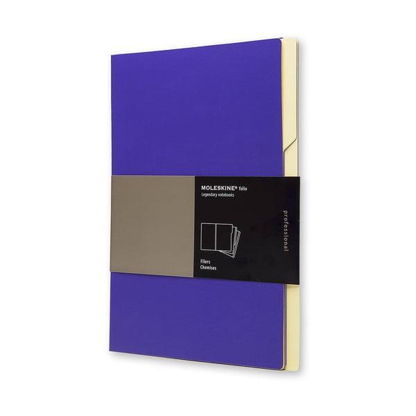 Zestaw 3 teczek Moleskine Folio Filer Magenta, A4