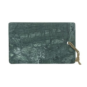 Zielona marmurowa deska do krojenia Strömshaga, 25x15,5 cm