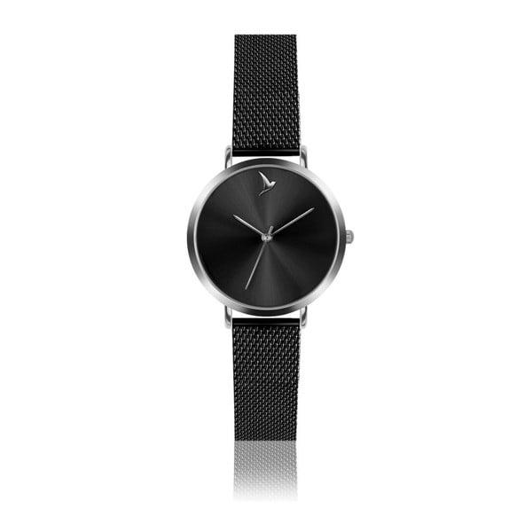 Zegarek damski z czarną bransoletką ze stali nierdzewnej Emily Westwood Black