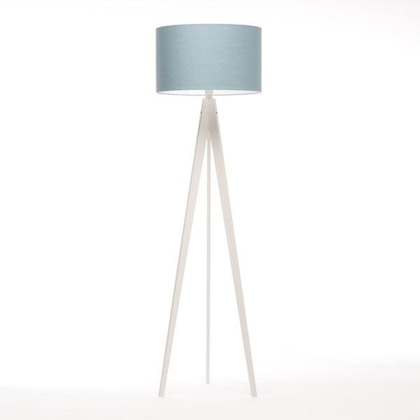 Niebiesko-szara lampa stojąca 4room Artist, biała lakierowana brzoza, 150 cm