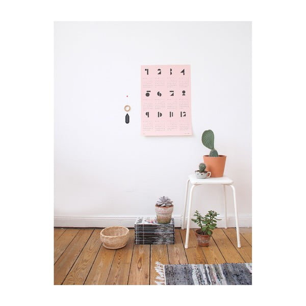 Kalendarz ścienny SNUG.Toy 2016, różowy