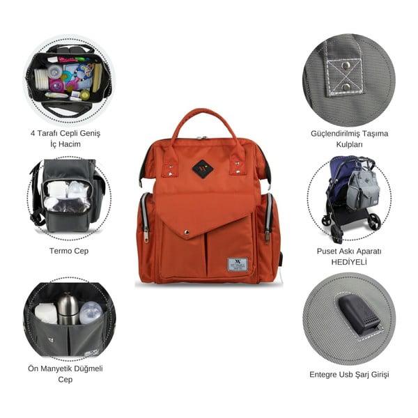 Zielony plecak dla mam z USB My Valice HAPPY MOM Baby Care Backpack
