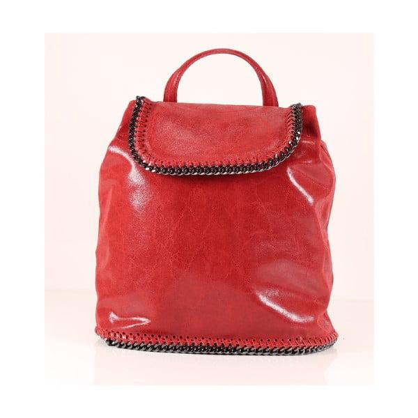 Plecaczek skórzany Emily, czerwony