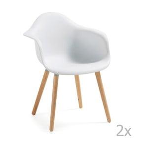 Białe   krzesło La Forma Kenna