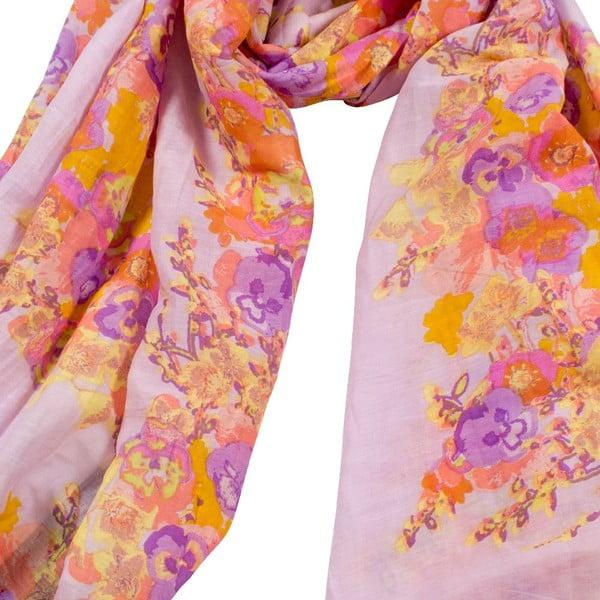 Chusta  z domieszką jedwabiu Shirin Sehan - Fleuretta Lavender