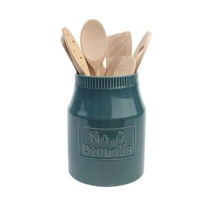 Niebieski pojemnik ceramiczny na przybory kuchenne Colour by Numbers