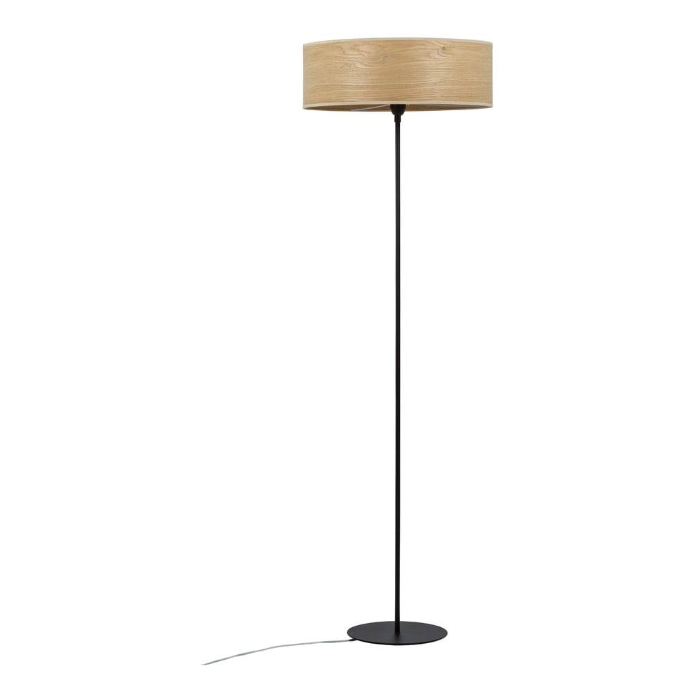 Lampa stojąca z kloszem z drewna dębowego Sotto Luce TSURI XL