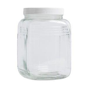 Szklany pojemnik White Lid