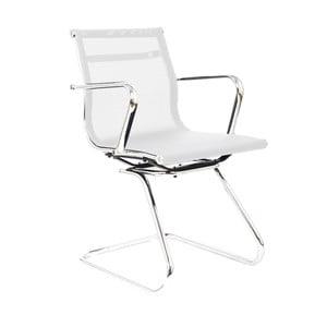 Krzesło biurowe Leila, białe