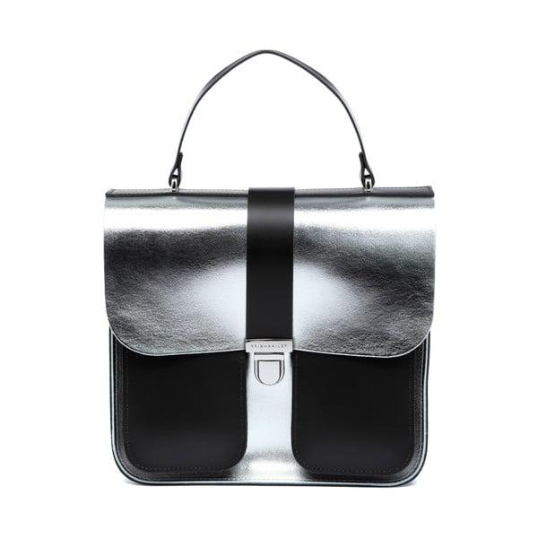 Skórzana torebka Onslow Silver/Dark Brown