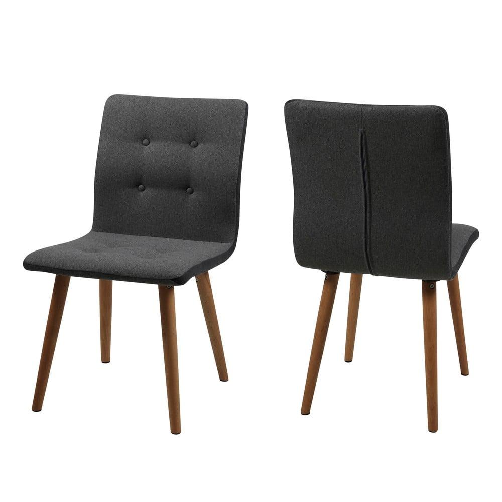 Zestaw 2 antracytowych krzeseł Actona Frida