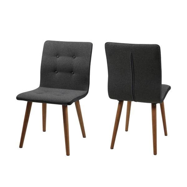 Komplet 2 krzeseł Frida, szare