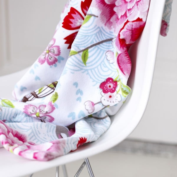 Ręcznik Birds in Paradise 55x100 cm, biały