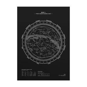 Plakat The Northern Sky Silver/White/Black, 50x70 cm