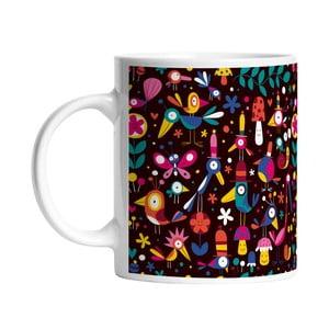 Ceramiczny kubek Colorful Birds, 330 ml