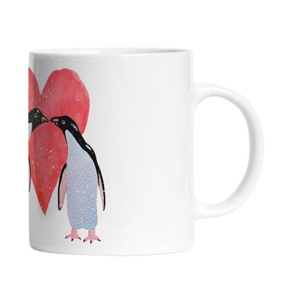 Ceramiczny kubek Penguin Love, 330 ml