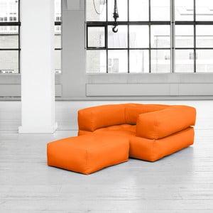 Fotel rozkładany Karup Cube Orange