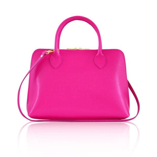 Skórzana torebka Penny, różowa