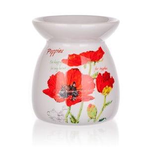 Świecznik ceramiczny Banquet Red Poppy, 10,2 cm