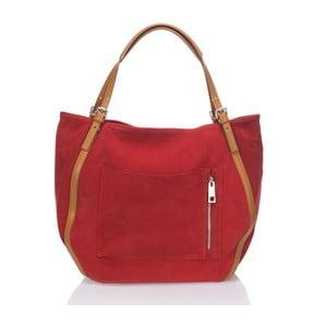Skórzana torebka Krole Karin, czerwona