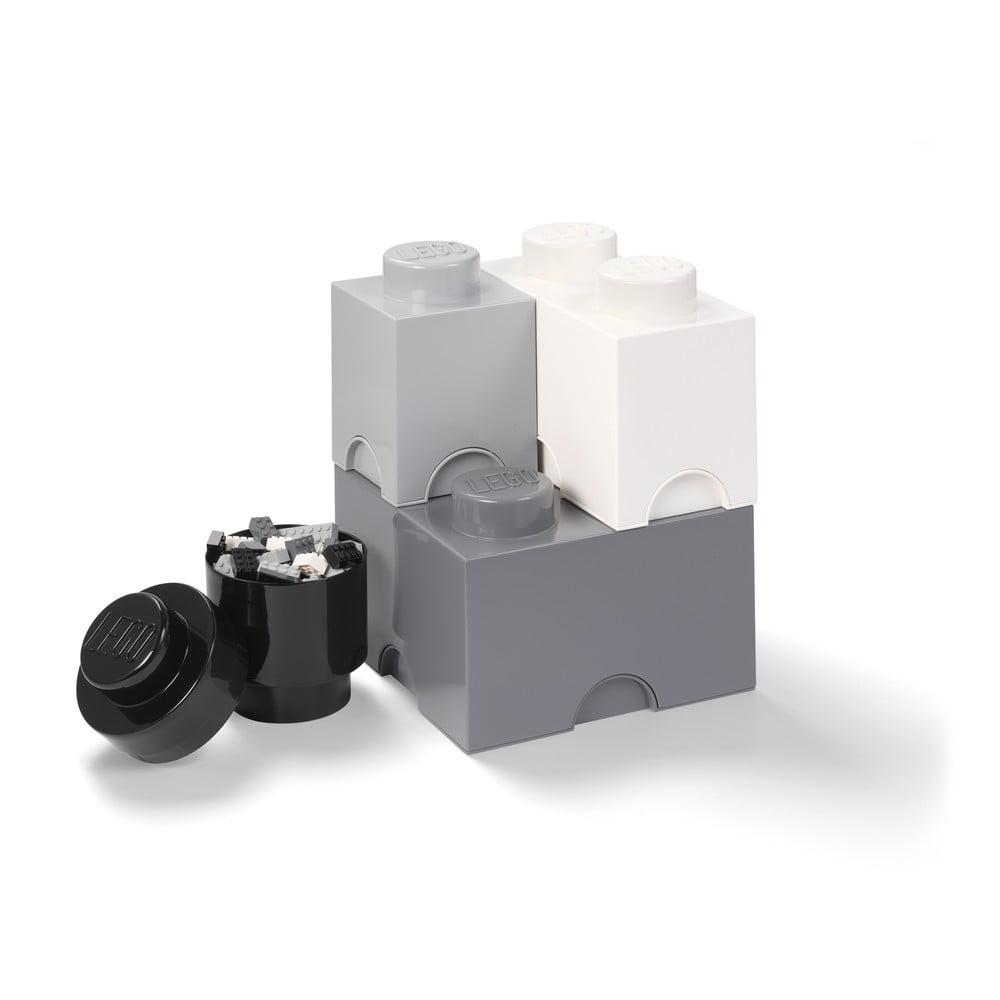 Zestaw 4 plastikowych pudełek LEGO®, 25x25x33 cm
