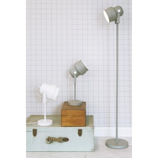Szara lampa stołowa Leitmotiv Studio