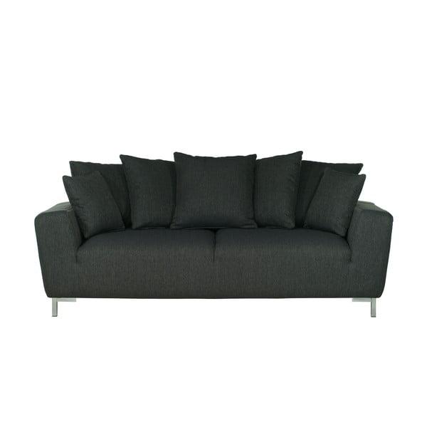 Czarna   sofa trzyosobowa Wintech Levis Portland