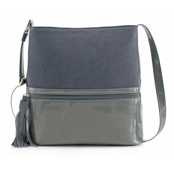 Skórzana torebka Boscollo Grey 3443