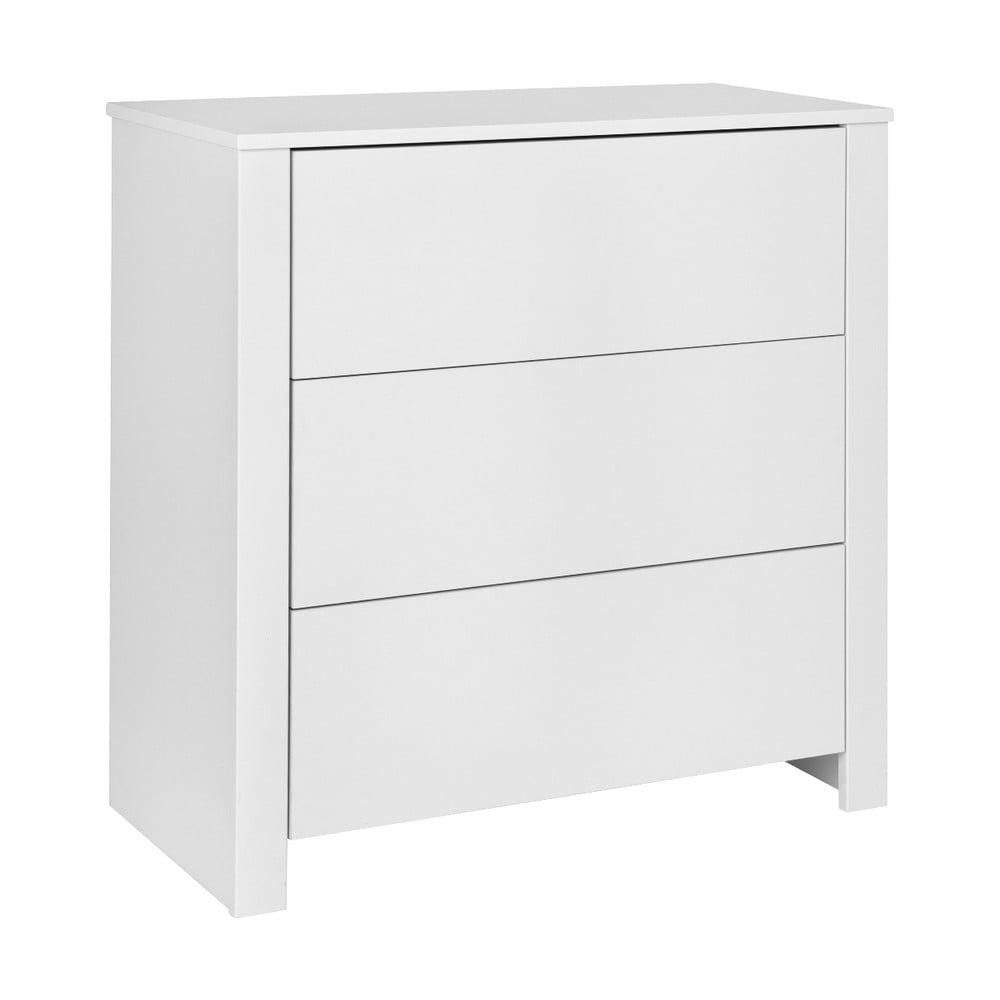 Biała komoda KICOTI Simple